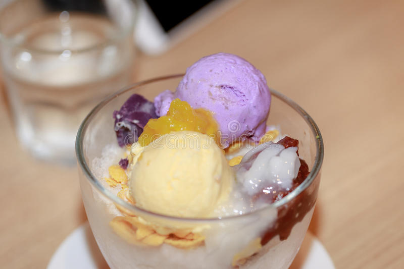 Famous halo halo dessert stock images