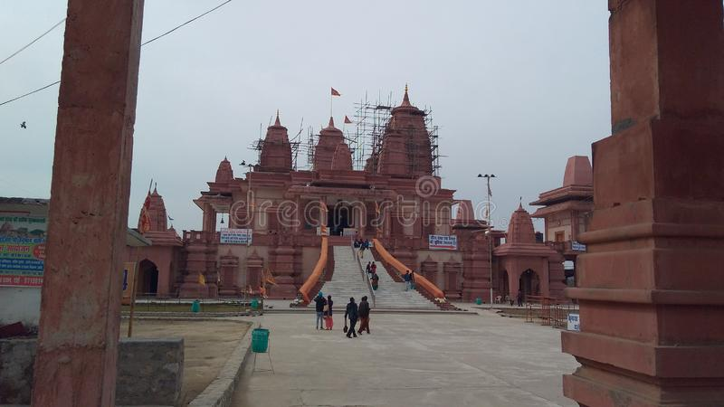 Famous Hanuman Temple india Ramnagar in indian style royalty free stock image