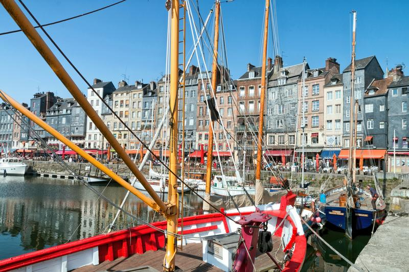 A famous harbor in the west of France royalty free stock photo