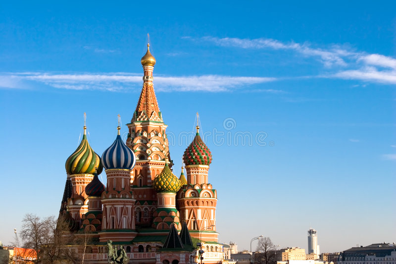 The famous Head of St. Basil's stock images