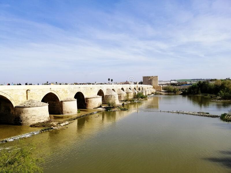 Famous historic bridge in Cordoba, Spain. The famous historic bridge in Cordoba, Spain stock photos