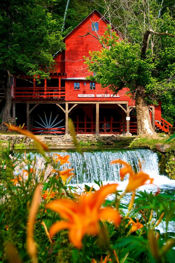 Famous Hodgson Water Mill in the Ozarks. The Hodgson Water Mill is a famous Water Mill located in the Ozarks of Missouri near Branson. The Mill has been cited as royalty free stock images
