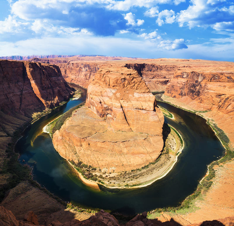Download Famous Horse Shoe Bend stock image. Image of horseshoe - 30530849
