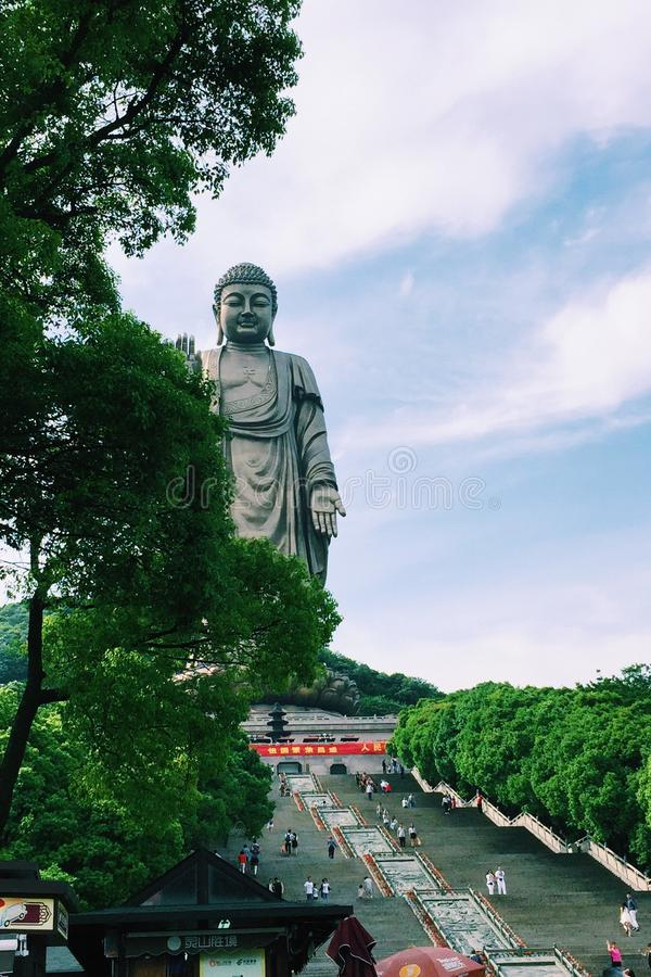Famous huge Buda stature in wuxi. A famous huge Buda stature in Wuxi ling stock images