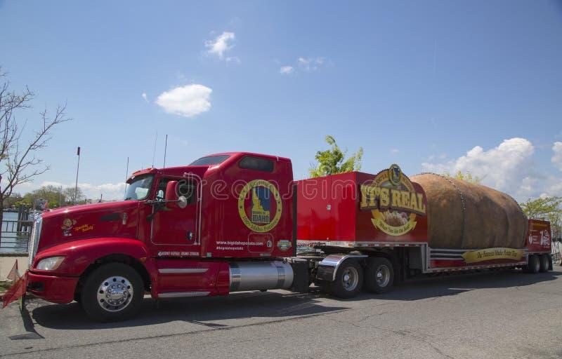 The Famous Idaho Potato Tour with The World's Largest Potato on Wheels royalty free stock photo