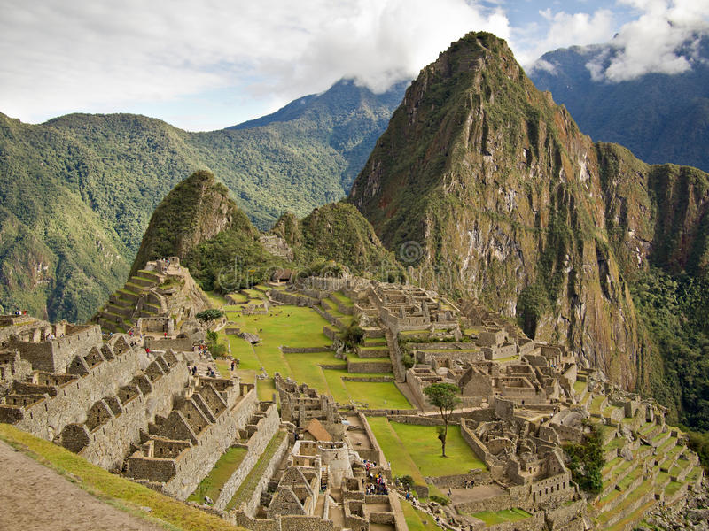Famous Inca city Machu Picchu royalty free stock photography