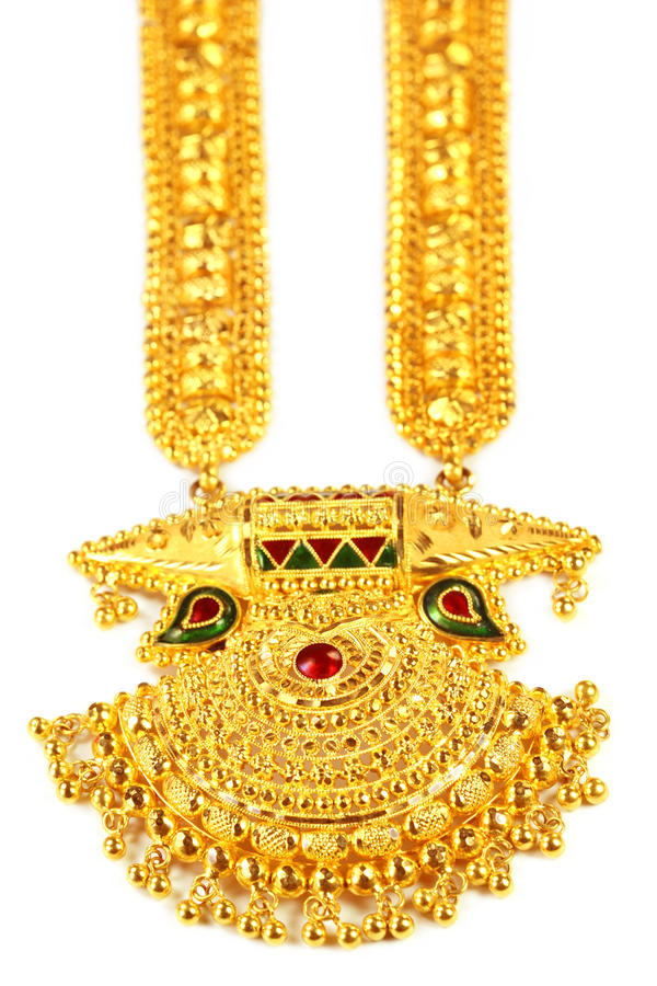 Famous Indian bridal Sita Har or Sita Necklace. Named after Hindu goddess Sita royalty free stock photo