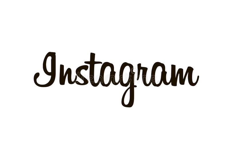 Famous Instagram sign isolated on white background royalty free stock photo
