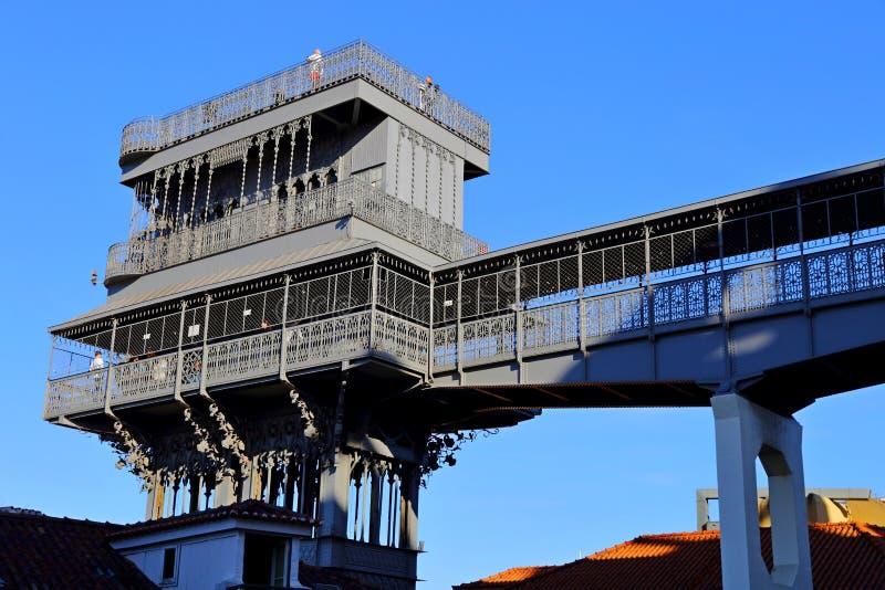 The famous Iron Santa Justa lift in Lisbon Portugal. Elevador de Santa Justa. The famous Iron Santa Justa lift in Lisbon Portugal. Elevador de Santa stock photos