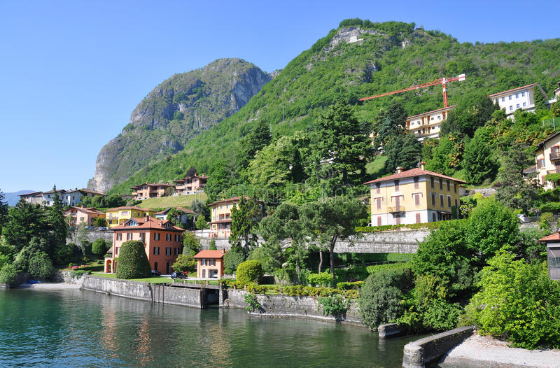 Famous Italian lake Como stock photo