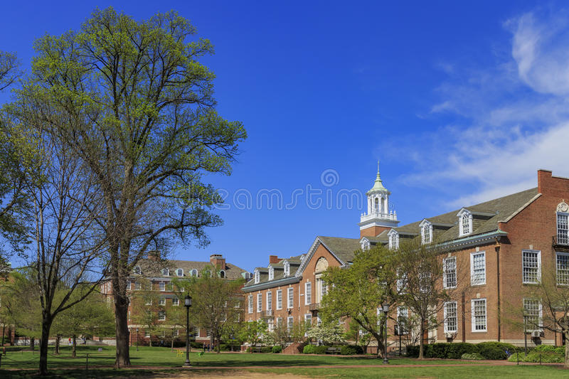 The famous Johns Hopkins University. In the beautiful Baltimore, United States stock images