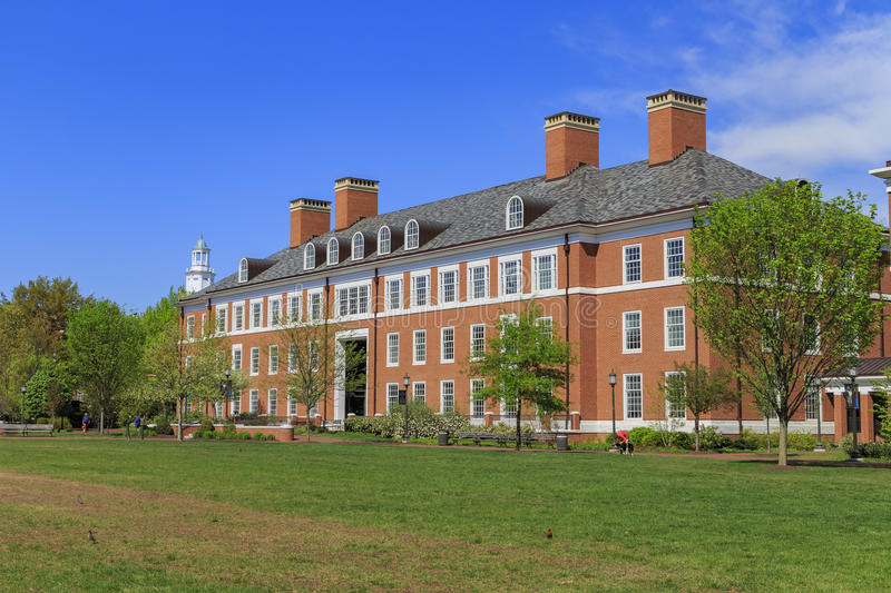 The famous Johns Hopkins University. In the beautiful Baltimore, United States royalty free stock photos