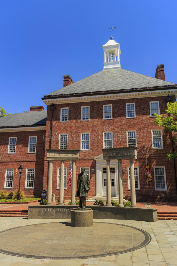 The famous Johns Hopkins University. In the beautiful Baltimore, United States royalty free stock images