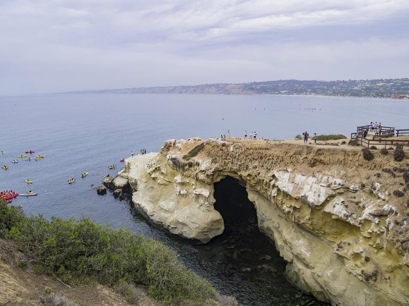 The famous La Jolla Cove. At San Diego royalty free stock image