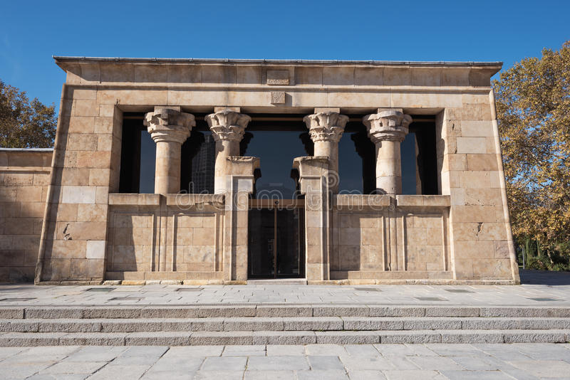 Famous Landmark Debod, egyptian temple in Madrid, Spain. royalty free stock images