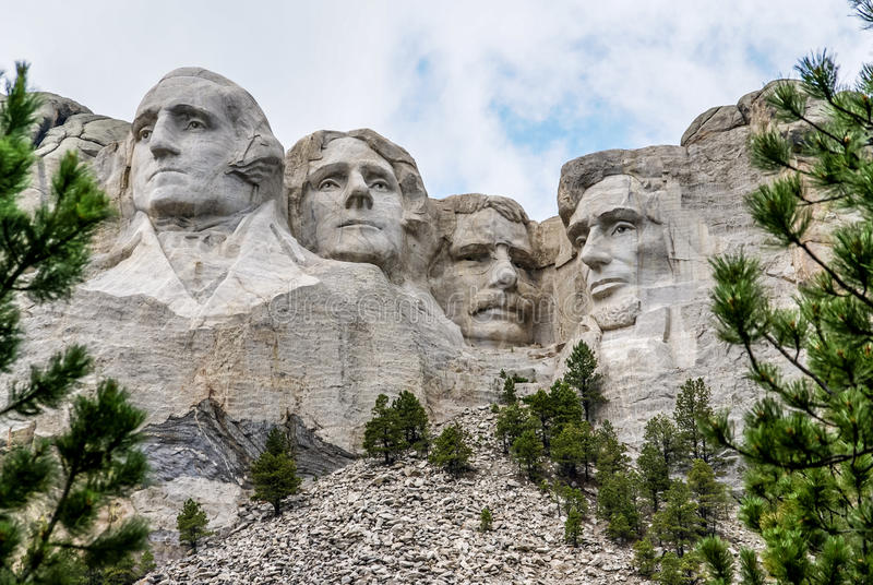 Famous Landmark and Mountain Sculpture - Mount Rushmore stock image