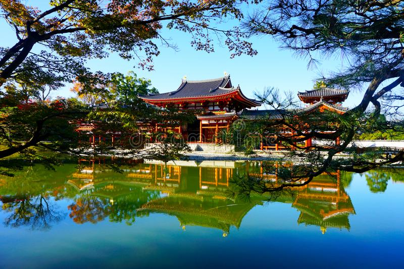 The Phoenix Hall Byodo-in Temple at Uji royalty free stock photos