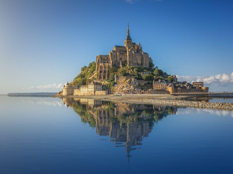 Famous Le Mont Saint-Michel, Normandy, France royalty free stock photo