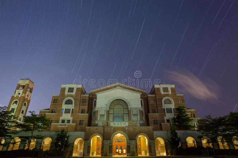 The famous library of National Taiwan University at Taipei stock images
