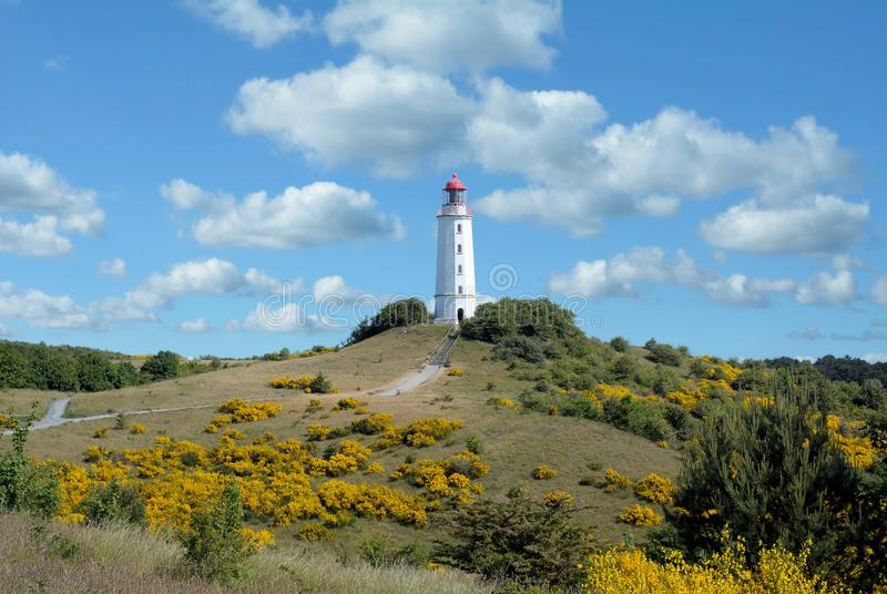 Lighthouse,Hiddensee,baltic Sea,Germany. The famous Lighthouse on Hiddensee at baltic Sea,Mecklenburg western Pomerania,Germany royalty free stock image