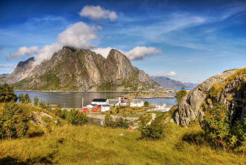 Famous Lofoten, Norway Landscape, Nordland stock photos