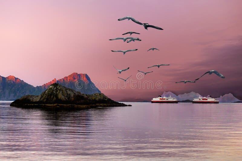 Famous Lofoten, Norway Landscape, Nordland royalty free stock images