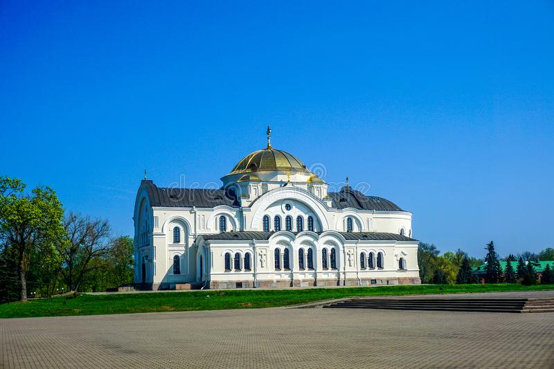 Brest Fortress Hero Complex Cathedral. Famous Magnificent Appealing Brest Fortress Hero Complex Orthodox Christian Cathedral royalty free stock image