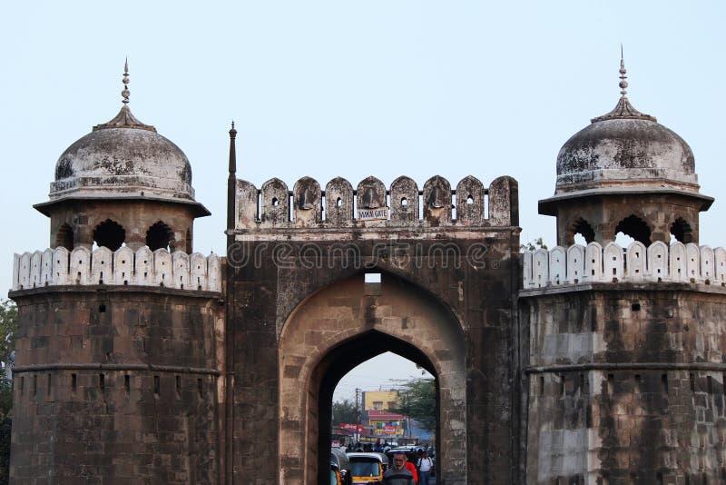 Famous makai gate or Mecca Gate, Aurangabad, Maharashtra royalty free stock photography