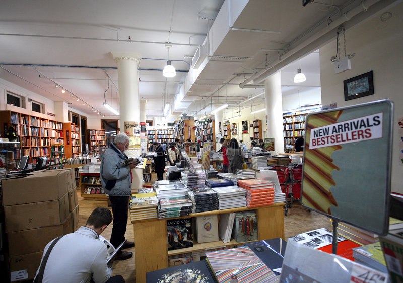 Famous Manhattan Bookstore. The Strand Bookstore, a landmark for booklovers visiting New York City stock images