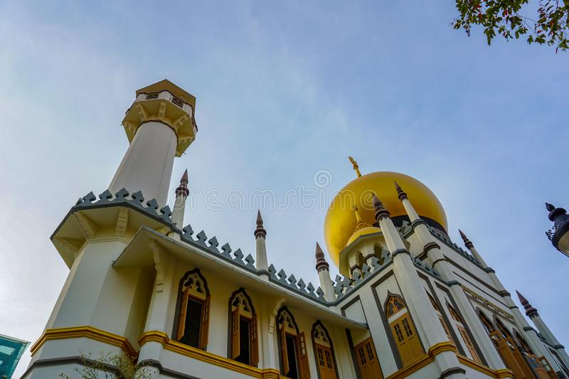 Sultan Mosque, Singapore. Famous Masjid Sultan Mosque, Singapore royalty free stock images