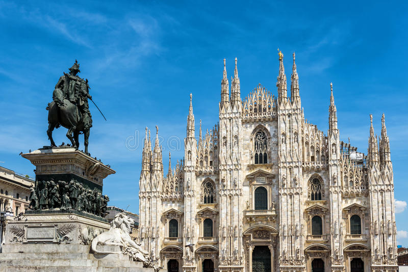 The famous Milan Cathedral, or Duomo, in Milan, Italy royalty free stock image