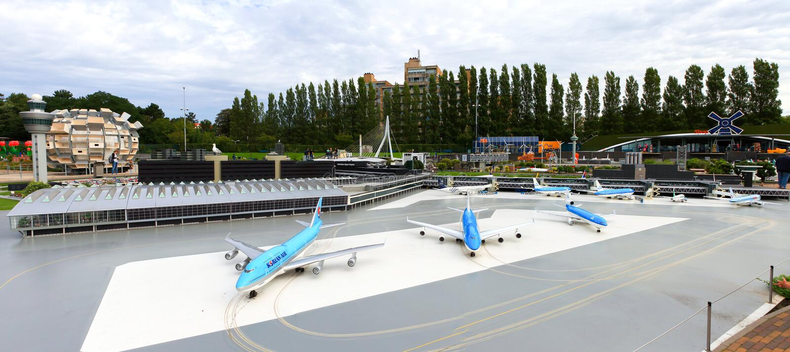 Famous miniature park and tourist attraction of Madurodam. Located in The Hague, home to a range of 1:25 scale model replicas of famous Dutch landmarks royalty free stock photo