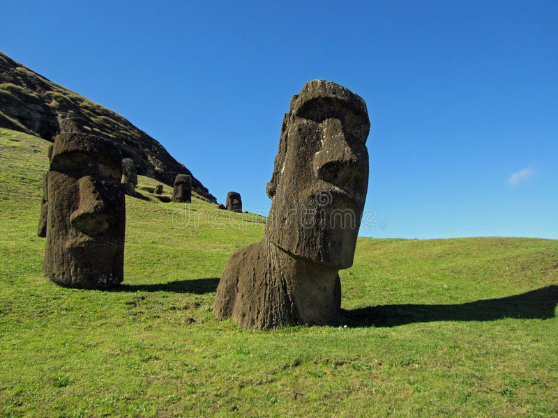 Famous Moai royalty free stock photography