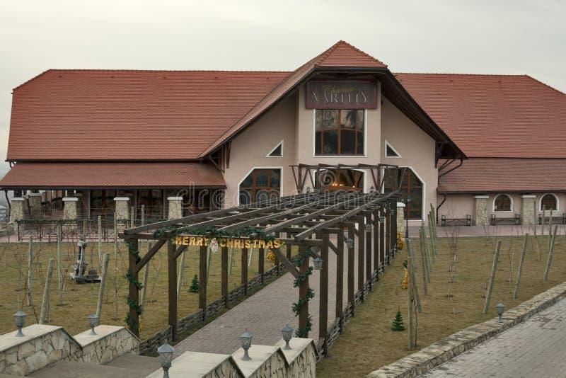 Famous Moldova winery Chateau Vartely stock photos