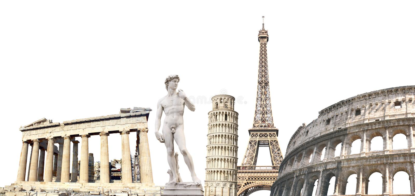 Famous monuments of the Europe stock photo