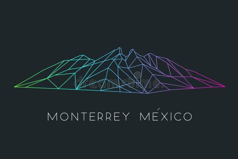 Famous mountain icon of Monterrey Mexico vector illustration