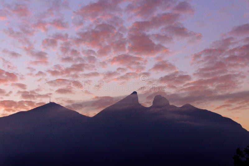 Famous mountain in Monterrey Mexico called Cerro de la Silla stock photos