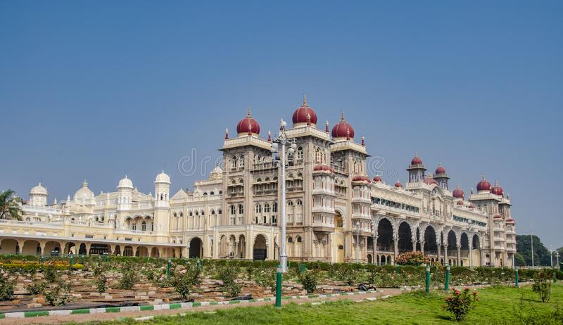 The famous mysore in Mysore in India. The famous mysore in Mysore, India stock image