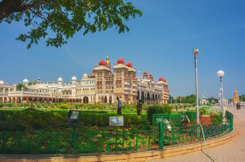 The Famous Mysore Palace. Mysore. India stock images