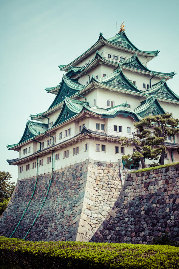 Famous Nagoya Castle in Japan.  stock images