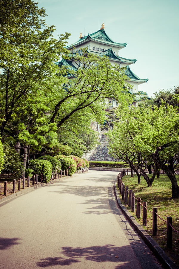 Famous Nagoya Castle in Japan.  royalty free stock images