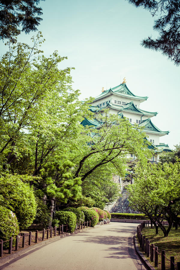 Famous Nagoya Castle in Japan.  royalty free stock photos