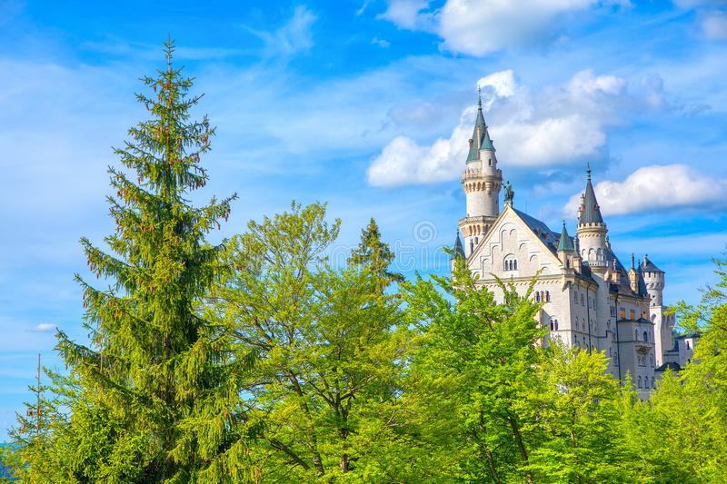 Famous Neuschwanstein Castle royalty free stock photography