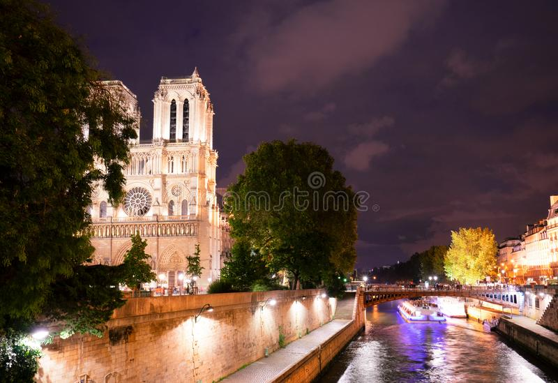 Notre Dame cathedral, Paris France stock photos