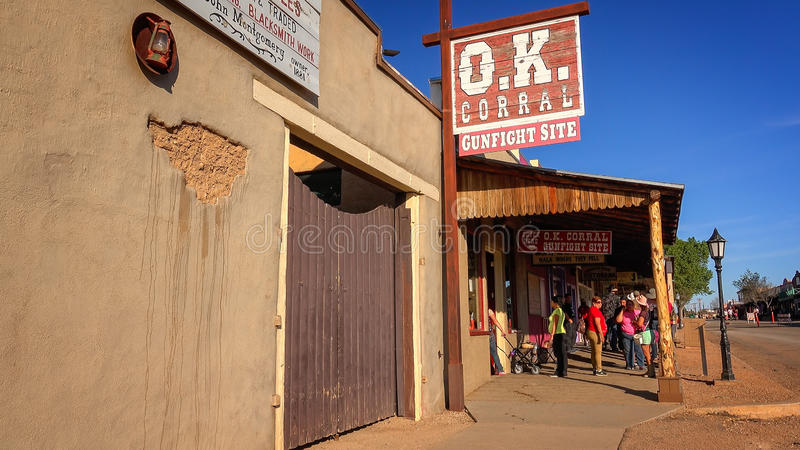 Famous OK Corral Sign in Tombstone, Arizona royalty free stock photos