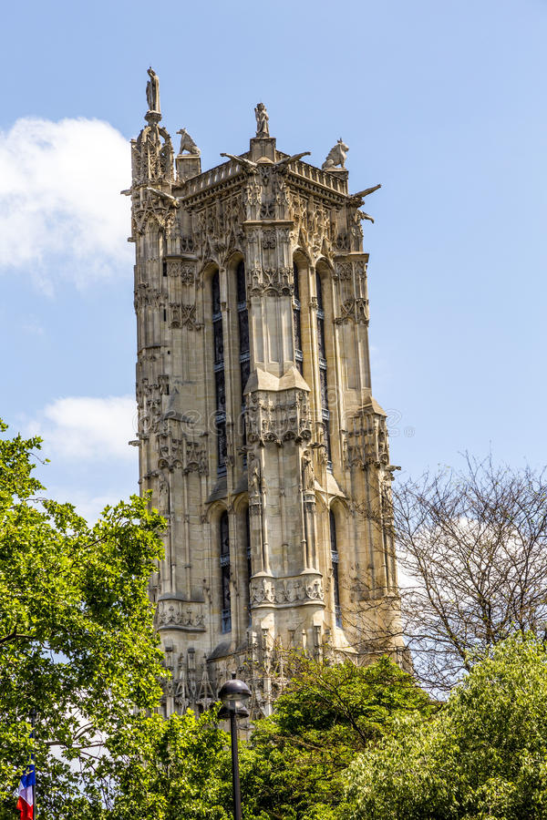 Famous old church Saint-Germain-l'Auxerrois from the 7th century royalty free stock photo