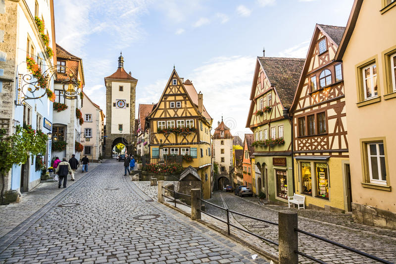 famous old town of rothenburg editorial stock photo image of street afternoon 44407798. Black Bedroom Furniture Sets. Home Design Ideas