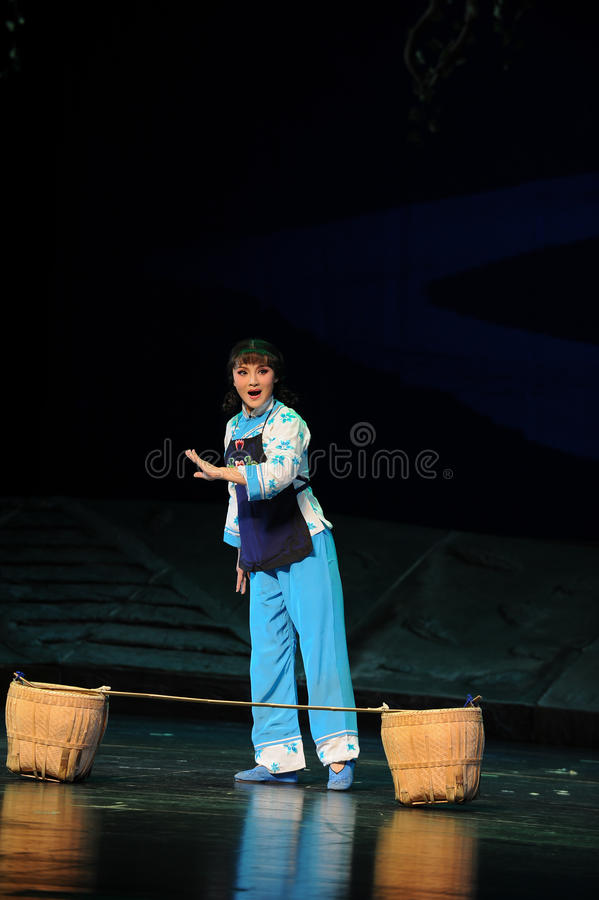 The famous opera actor Chen Li- Jiangxi opera a steelyard. Jiangxi opera a steelyard is adapted from a true story: the last century fortys, the protagonists stock photography