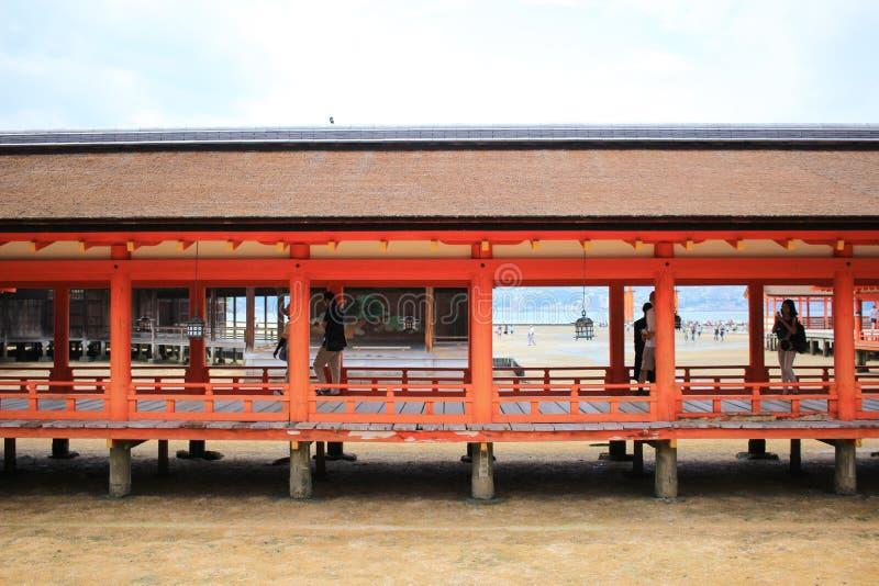 The famous orange floating shinto gate. Miyajima island of Hiroshima prefecture stock photography