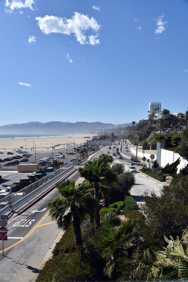 Famous Pacific Coast Highway. The iconic Pacific Coast Highway leading toward Malibu California royalty free stock photos